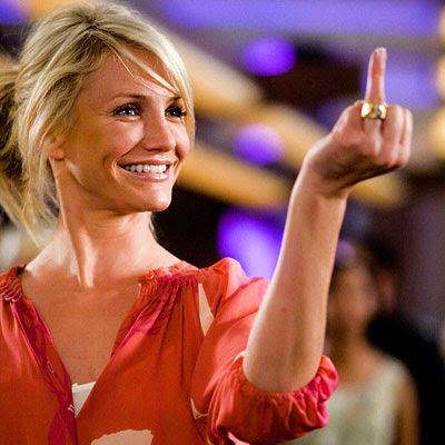 cameron diaz movies. Cameron Diaz wrong finger