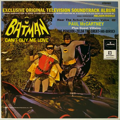 Mash Ups Batman Nelson Riddle Vs The Beatles