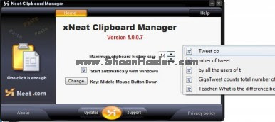 Do Multiple Copy-Paste with Xneat Clipboard Manager