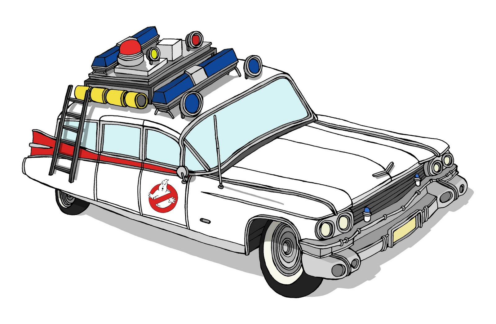 Ecto 1 Ghostbusters Coloring Pages