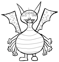 Step 11 Lightly Draw In Your Designs For His Body And Wings You Do Not Need To Make Them Look The Same As This One Monster Comes With All Sorts Of