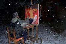Pintando bajo la nieve