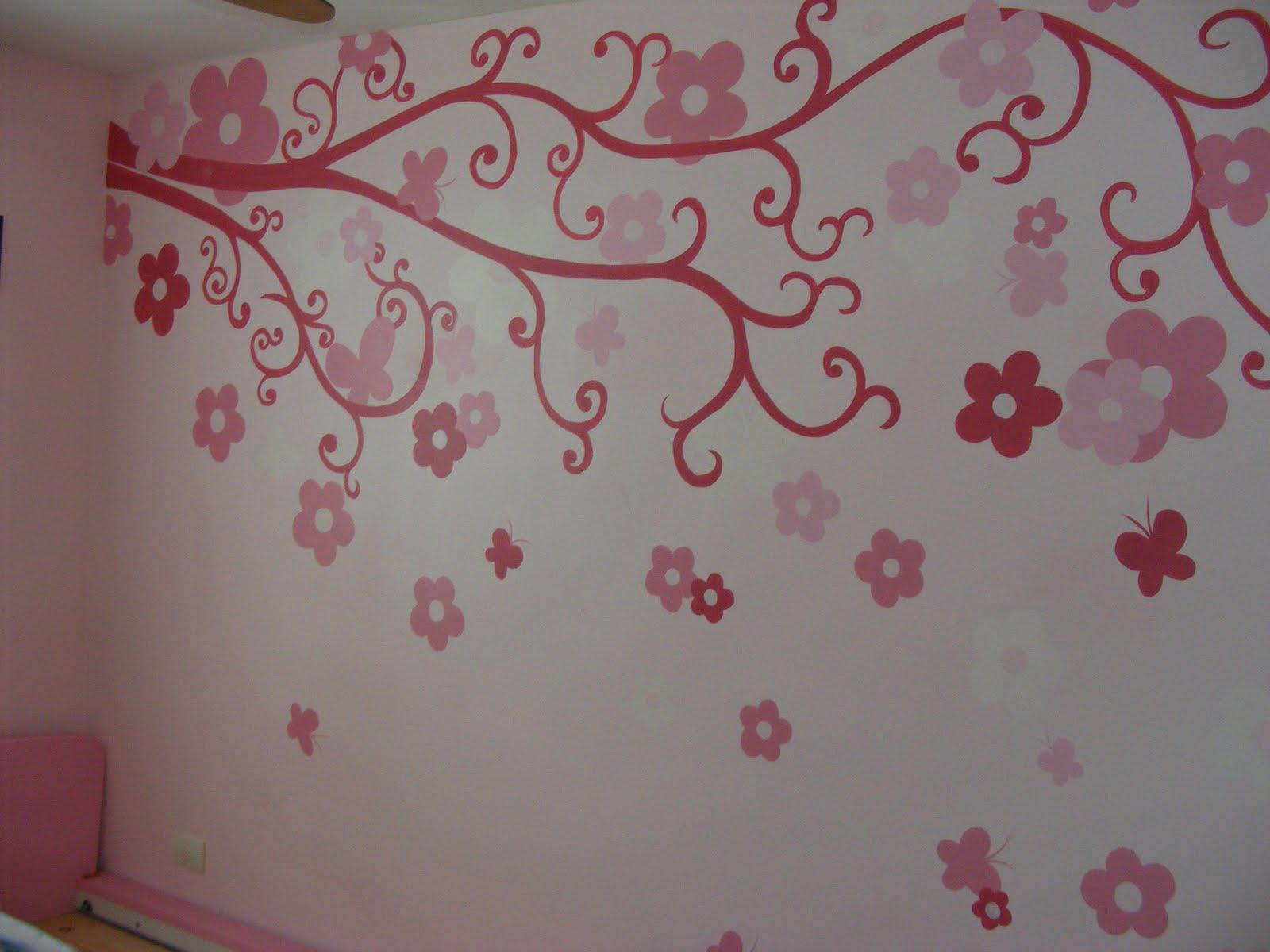 Murales infantiles 03 25 10 for Recamara infantil nina