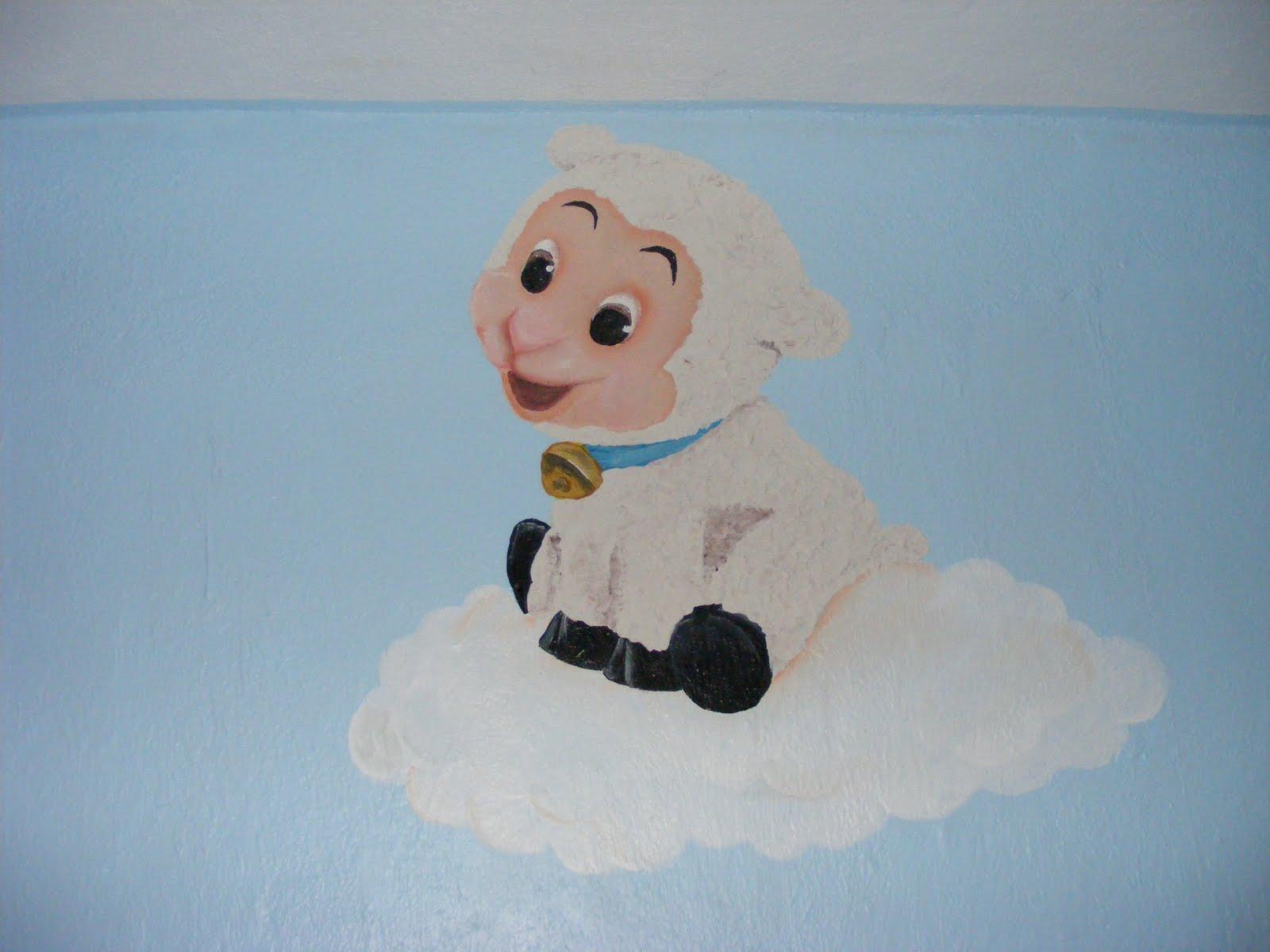 Murales infantiles borreguitos de ensue o - Salones de ensueno ...
