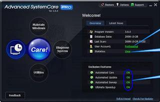 Advanced SystemCare Pro Vs. 3.3.1+ Serial + Manual de instalação