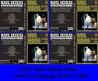 DVD Raul Seixas Show Praia Do Gonzaga Santos