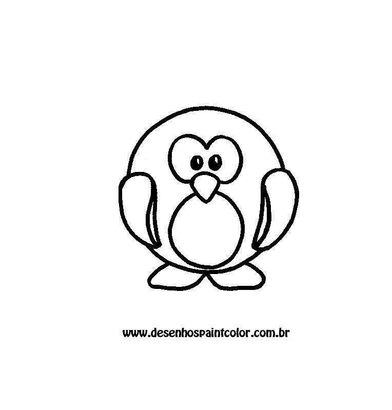 Desenho De Pinguim Para Imprimir E Colorir Desenhos Infantis