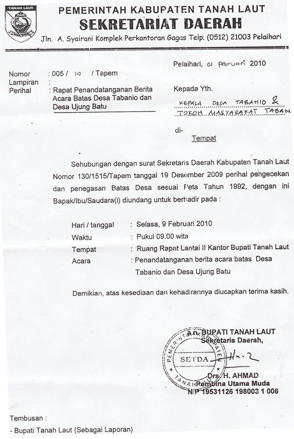 Contoh Surat Resmi Undangan Rapat Desa - Contoh Isi Undangan
