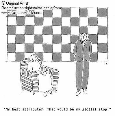 A Walk in the WoRds: Linguistics Cartoon Favorites - Glottal Stop