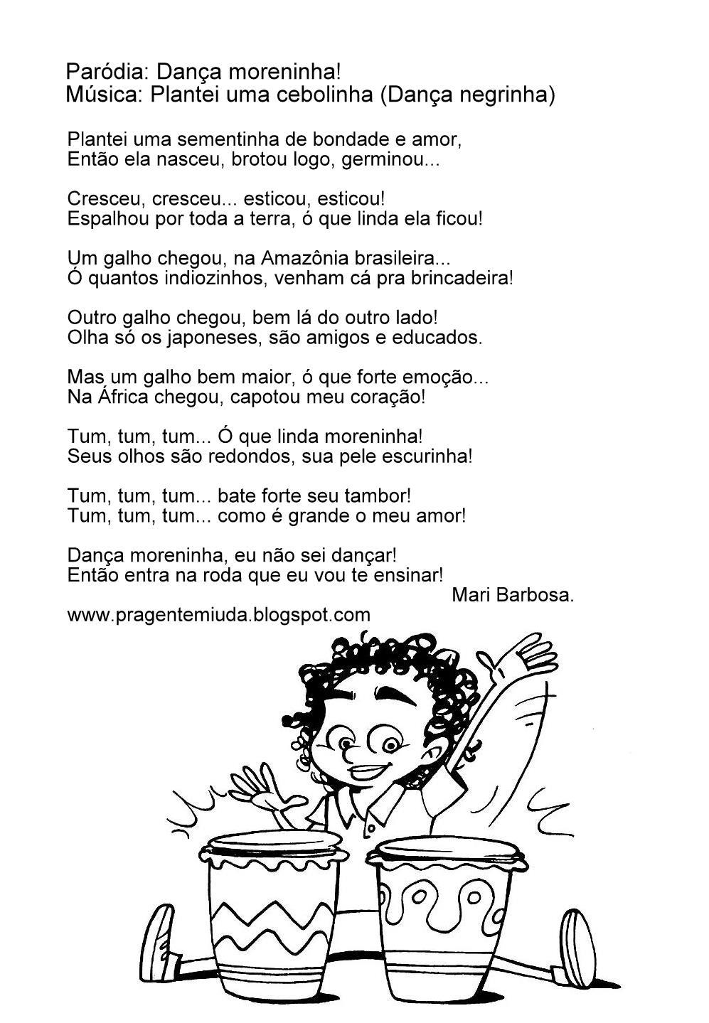 Paródia Ilustrada - Dança Moreninha!   Pra Gente Miúda