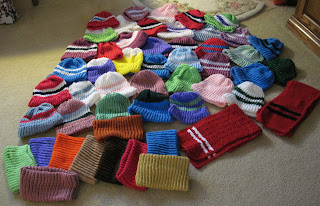 knitted hats, neck warmers