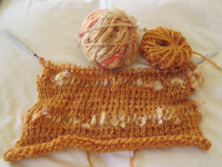 beginning of knitted wrap