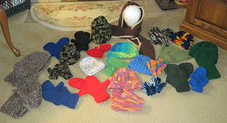 hats, scarves, and mittens for homeless