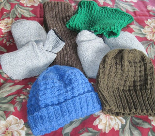 knitted items for homeless