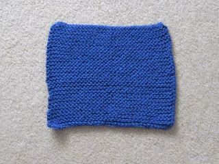 knitted square