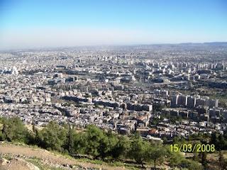 Vistas de Damasco desde la montaña