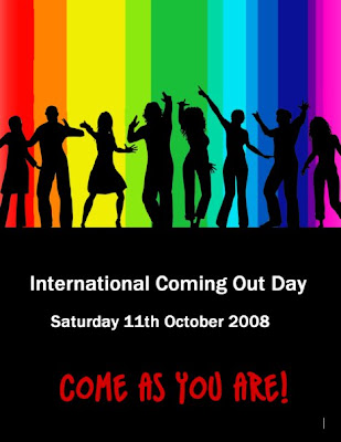International Coming Out Day poster - 11th October