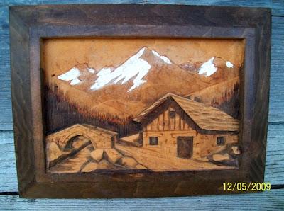 brocante 1515 brocante tableau sculpt en bois. Black Bedroom Furniture Sets. Home Design Ideas