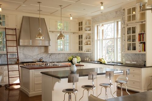 Gorgeous white modern farmhouse kitchen from Brooke Giannetti on Hello Lovely Studio