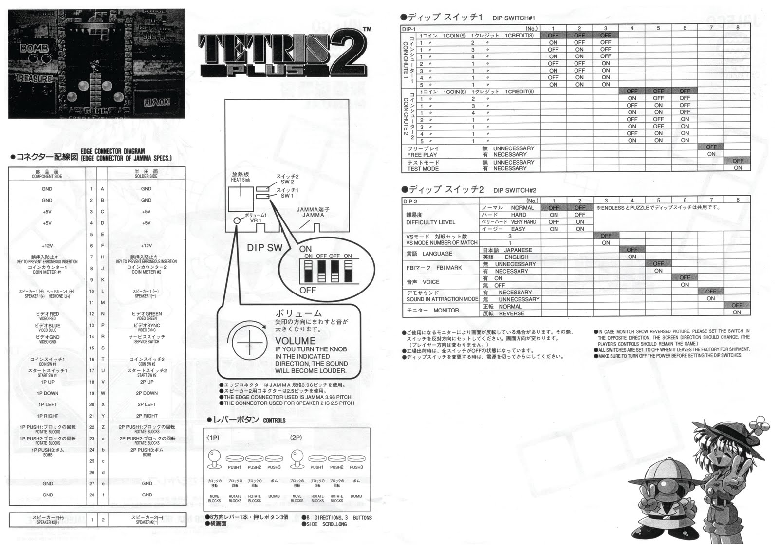 Random Arcade Shit: Tetris Plus 2 : Jaleco 1997