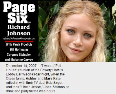 Page Six - Mary Kate and Ashley Olsen