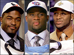 Mario Williams, Vince Young, Reggie Bush