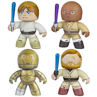 Star Wars Mighty Muggs - Series 2: Luke Skywalker, Mace Windu, C-3P0, Obi-Wan Kenobi