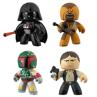 Star Wars Mighty Muggs - Series 1: Darth Vader, Chewbacca, Bobba Fett, Han Solo