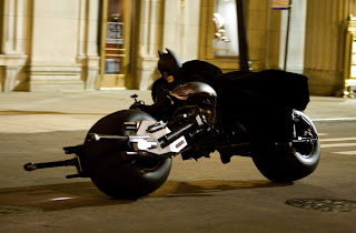 Batman on the new Batpod