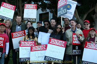 The Cast of Heroes on the Picket Line