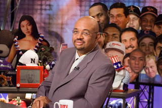 Michael Wilbon on the set of Pardon the Interruption