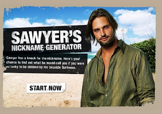 Sawyer's Nickname Generator at ABC.com