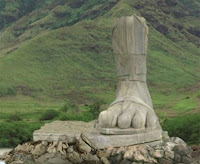 The Mysterious Four Toed Statue