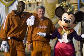 Vince Young, Mack Brown and Mickey Mouse