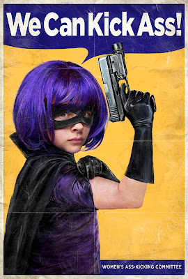 Kick-Ass Propaganda Movie Poster Set - Hit Girl
