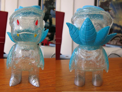 Super7 - Weirdearth Outerspaced Clear Pearl Rose Vampire with Blue and Silver Spray by Josh Herbolsheimer
