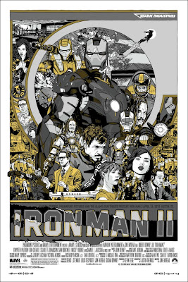 Iron Man 2 Variant Screen Print by Tyler Stout