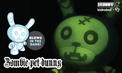 Kidrobot - 8 Inch Glow-In-The-Dark Zombie Pet Dunny