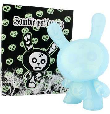 The GID 8 Inch Zombie Pet Dunny and Packaging