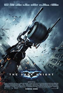 The Dark Knight UK Batman on Batpod Promotional Poster