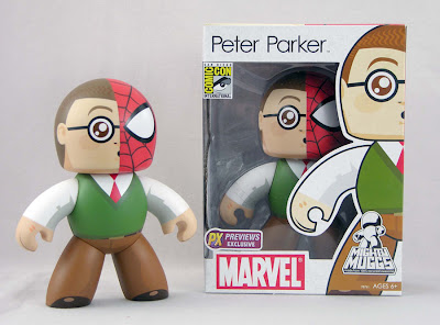 Marvel Mighty Muggs - Peter Parker 2008 San Diego Comic Con Exclusive Vinyl Figure