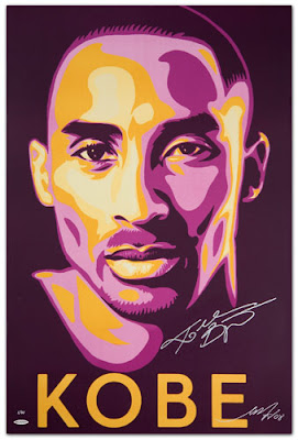 Upper Deck Kobe Bryant Lithograph by Shepard Fairey (OBEY Giant) - KOBE