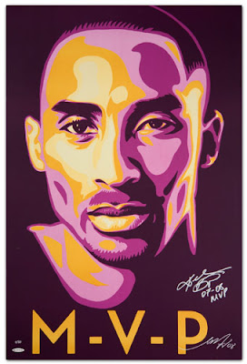 Upper Deck Kobe Bryant Lithograph by Shepard Fairey (OBEY Giant) - MVP