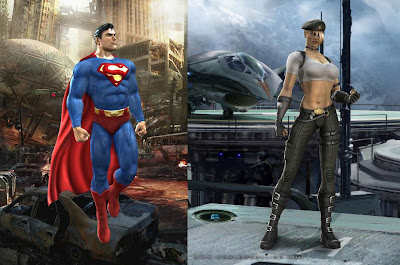 Mortal Kombat vs. DC Universe - Superman and Sonya Blade