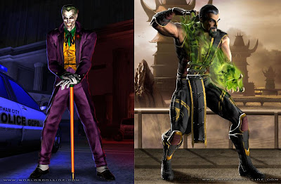 Mortal Kombat vs. DC Universe - The Joker and Shang Tsung