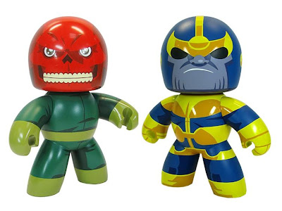 Marvel Legends Previews Exclusive Mighty Muggs - Red Skull and Thanos