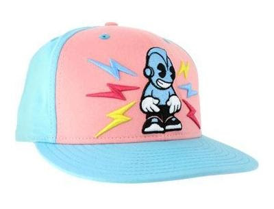 Kidrobot x New Era - Electric Robot Pink/Light Blue Fitted Hat