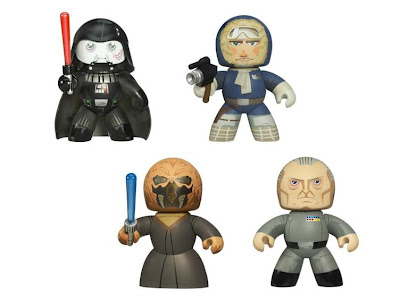 Star Wars Mighty Muggs Wave 6 - Darth Vader Version 2, Han Solo in Hoth Gear, Plo Koon & Grand Moff Tarkin