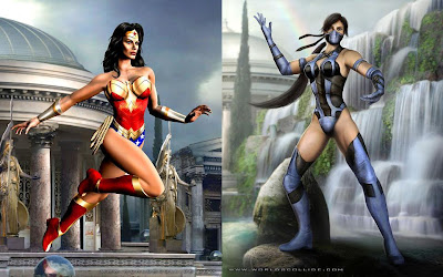 Mortal Kombat vs. DC Universe - Wonder Woman and Kitana