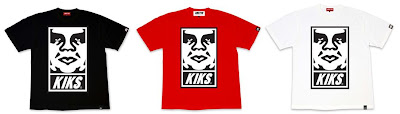 OBEY Giant x KIKS TYO - KIKS TYOBEY GIANT Black, Red and White T-Shirts